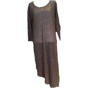 SWEATER DRESS. ASYMMETRICAL. SIZE LARGE